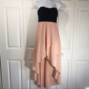 Charlotte Russe strapless high low dress size M